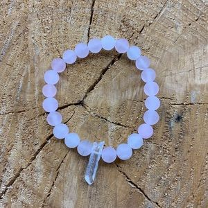 Rose Quartz + Clear Quartz Bracelet